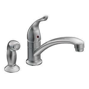 Moen 7437 chateau chrome one handle low arc kitchen faucet for Kitchen faucet recommendations