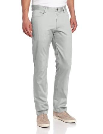 Calvin Klein Sportswear Men's 4-Pocket Sateen Bowery Casual Pant, Drizzle, 30x30