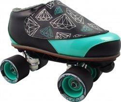 Skate Out Loud Vanilla Diamond Walker Sunlite Tiffany Speed Jam Roller Skates Toe Stop Color : Yellow   Boot Color : Black/White   Size : 9   Plate Color : Blue