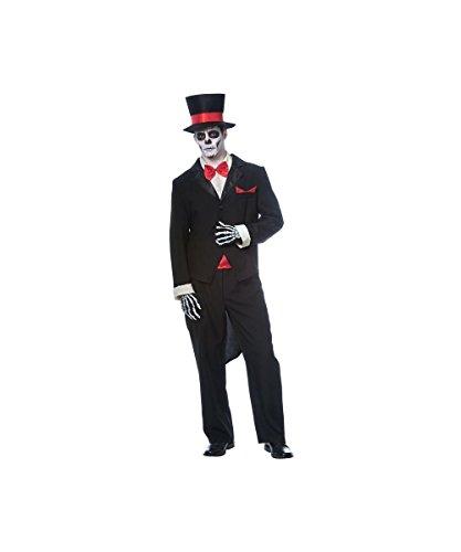 [Day of the Dead Groom Men's Costume] (Dead Groom Costume)