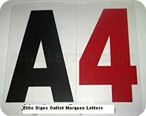 Amazoncom marquee changeable sign letters 2quoth letters for Changeable letter sign panels