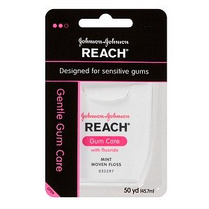 Reach Gentle Gum Care Woven Dental Floss, Fluoride,
