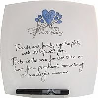 20th wedding anniversary signing plate [Kitchen]