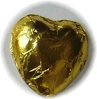 Gold Foiled Chocolate Hearts - Wedding Favors