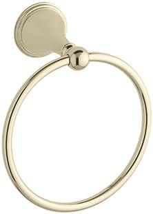 buy Kohler K-363-Af Finial Traditional Towel Ring, Vibrant French Gold