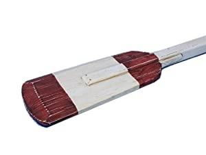 Handcrafted Nautical Decor Wooden Rustic Eastern Bay Squared Rowing Oar with Hooks, 36