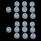 Bluecell 10 Pairs Small Clear color Silicone Replacement Ear Buds Tips for Audio-Technica Skullcandy Monster Sony Ultimate Ears Sharp Sennheiser Plantronics TDK Phillips Panasonic Denon Griffin JVC