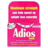 Adios Max Herbal Slimming Tablets - 100