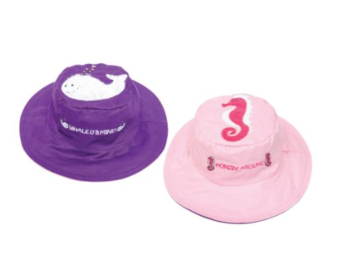 Luvali Convertibles LCKDS4SWS Whale Seahorse Reversible Kids Hat Small