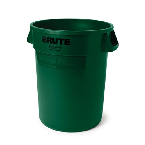 Rubbermaid commercial fg261000dgrn brute heavy duty waste utility container 10 gallon green - Garden waste containers ...