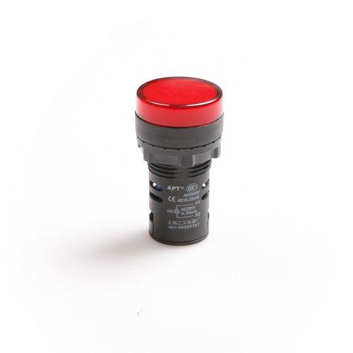 Ac 220V Red Led Power Indicator Pilot Single Light Lamp 22Mm