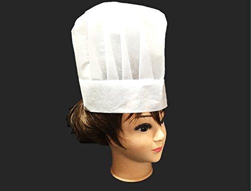 大量 セット コック帽 業務 用 極上の フィット 感 不織布 抗菌 使い捨て タイプ コック 帽子 制服 丸帽 ホワイト (白 低 1枚 おためし)
