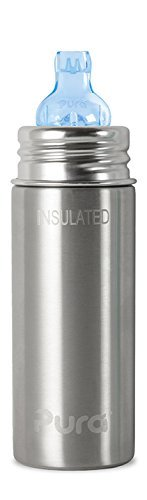 Pura Kiki Insulated Stainless Steel Sippy Cup, 9 ounce
