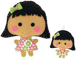 Westrim Crafts Sew Cute Craft Box Kit Makes 2 Doll #3 Black Hair