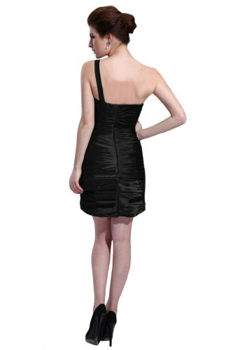 31AfeY3K0yL Special Offers: Emma Y Lady Womens One Shoulder Sheath Short Dress