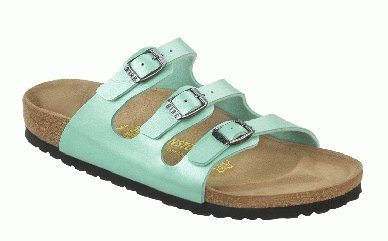 "Cheap Birkenstock Sandals ""Florida"" from Birko-Flor in Graceful Mint with a regular insole (B005OIB2IW)"