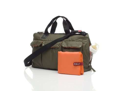 Babymel Soho Messenger Diaper Bag, Forest Green