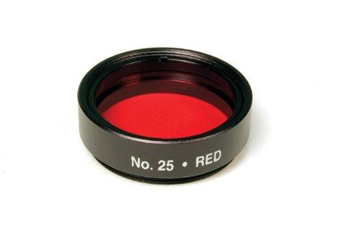 "Levenhuk 1.25"" Optical Filter #25 (Red), 14% Light Transmission, For Planetary Observations"