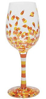Lolita Halloween Wine Glass Glasses Candy Corn