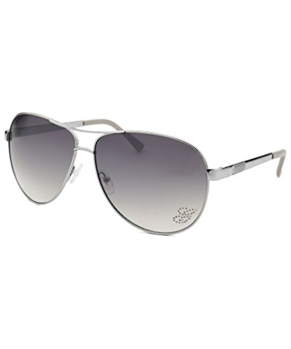 Occhiali da sole Guess GU7365 C63 Q89 (Silver / Gradient Smoke Flash Lens)