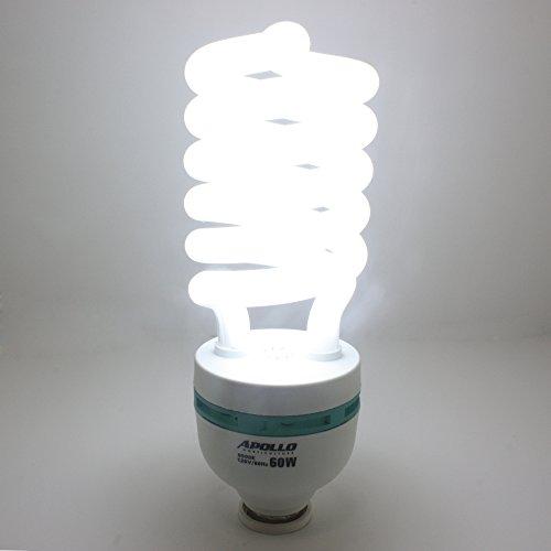 Apollo Horticulture 60 Watt CFL Compact Fluorescent Grow Light ...:Apollo Horticulture 60 Watt CFL Compact Fluorescent Grow Light Bulb for  Plant Growing - 6500K,Lighting