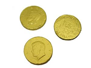 Chocolate Foil Coins - Gold Large - Kennedy 1.50 inches, 5 lb bag
