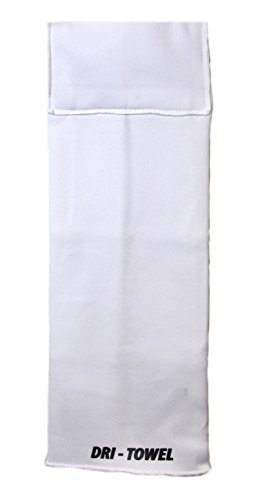 Dri-Towel Football Towel | Velcro Closure | Patented Wicking Technology | Towel Made Specifically for Football | Mouthpiece pocket|Antimicrobial, Hypoallergenic and Eco Friendly| Made in the U.S.A - WHITE