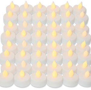 Wholesale Lot 48 Led Candle Tealight Tea Light Lamp Flicker Wedding Favor Decoration Gift Souvenir