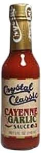 Crystal Cayenne Hot Sauce with Garlic, 512 Ounce