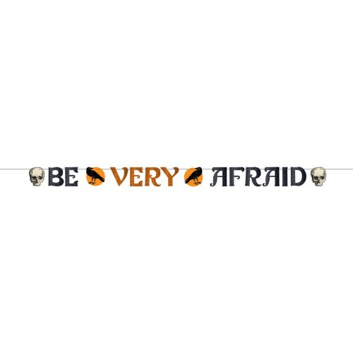 Amscan Be Very Afraid Letter Banner 12 Ft.