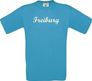 Shirtstown Kinder-Shirt Deine Stadt Freiburg City Shirts Sport, kult, Größe 104-164
