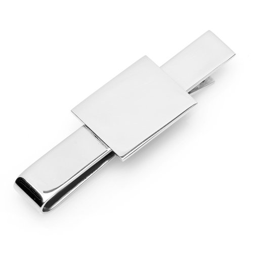 Ox And Bull Mens Stainless Steel Rectangular Infinity Tie Bar