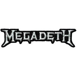 Application Megadeth Silver Logo Patch Novelty