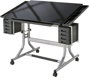 Alvin CraftMasters II Glass Top Art & Drawing Drafting Table