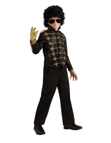 Kids-costume Michael Jackson Bk Military Jacket Deluxe Child Lg Halloween Costume