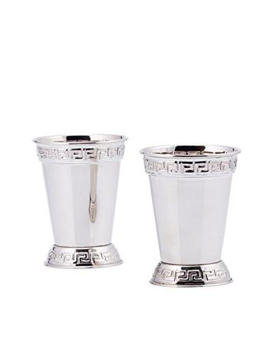 Old Dutch Set of 2 Mint Julep 12-Oz. Nickel Cups