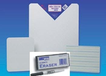 Flipside 10254 - Lined Dry Erase Board With Fine Point Pen And Student Eraser - 9.5 X 12 - Case Of 12