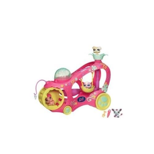 .com: Littlest Pet Shop EXCLUSIVE Paw Powered Cruiser - 3 Bonus Pets