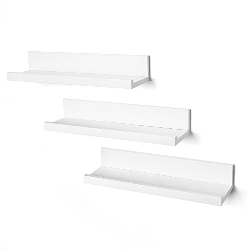 Set of Three 14-inch Floating Wall Ledge by Americanflat, White
