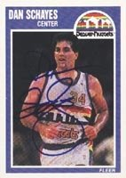 Dan Schayes Denver Nuggets 1989 Fleer Autographed Hand Signed Trading Card. by Hall+of+Fame+Memorabilia