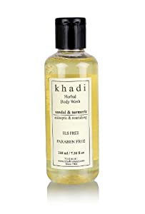 Khadi Sandal and Turmeric Body Wash Sls and Paraben Free, 210ml