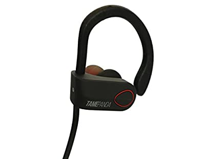 TamePanda Wireless Bluetooth Waterproof Headphone Inspired for Gym / Running with Microphone - Sport - Pao - Black