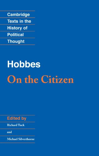 Hobbes: On the Citizen (Cambridge Texts in the History of Political Thought)