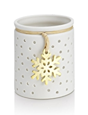 Snowflake Ceramic Tealight Holder
