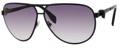 Alexander McQueenA. McQueen 4156/S Sunglasses-0003 Matte Black (JJ Gray Gradient Lens)-65mm