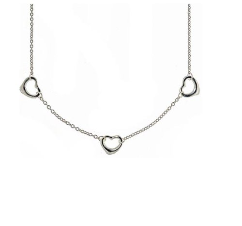 Sterling Silver Mini Open Heart necklace 18