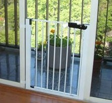 Cardinal Gates Lock-N-Block Sliding Door Gate, White