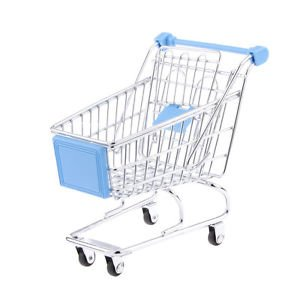 Banggood Kids Shopping Fun Entertainment Pretend Play Handcart Trolley Toy Sky Blue M