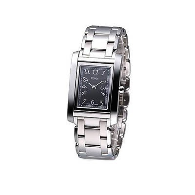 Fendi Loop Medium Square Black Dial and Bracelet Quartz Watch - F775310