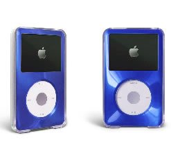MIP Apple iPod Classic Hard Case with Aluminum Plating 80gb 120gb 160gb-Blue